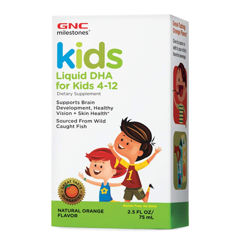GNC Milestones Kids Liquid DHA 75 ML. Lowest price on Saloni.pk