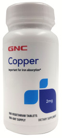 GNC Copper 2MG 100 Tablets Buy online in Pakistan on Saloni.pk