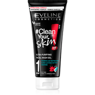 Eveline Clean Your Skin Ultra - Purifying Facial Wash Gel 200 ml. lowest price on saloni.pk