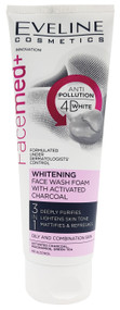 Eveline FaceMed+ Whitening Face Wash Foam With Activated Charcoal 100ml Buy online in Pakistan on Saloni.pk