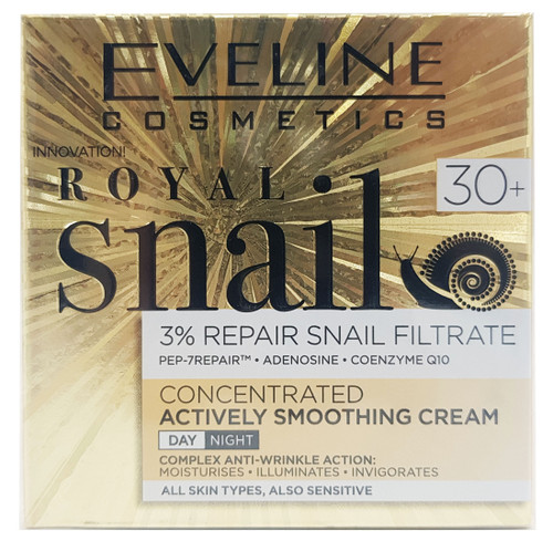 Eveline Royal Snail Concentrated Actively Smoothing Day & Night Cream 30+ - 50ml Buy online in Pakistan on Saloni.pk