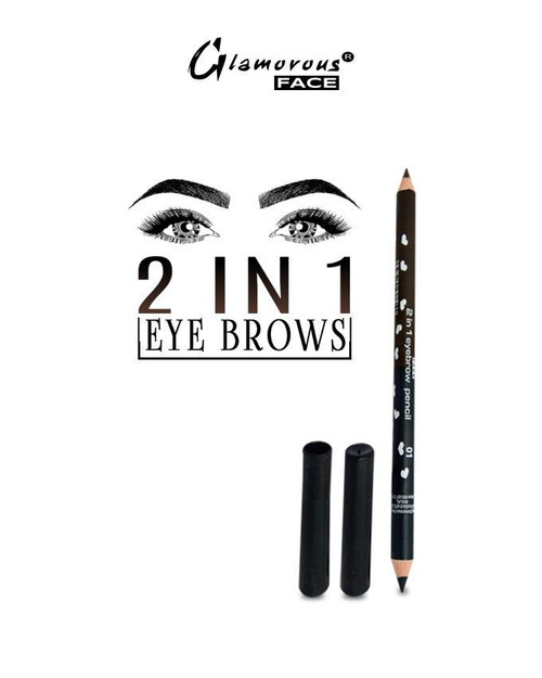 Glamorous Face 2 in 1 Eyebrow Pencil Lowest price on Saloni.pk