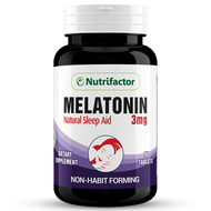 Nutrifactor Melatonin Natural Sleep Aid 3MG (90 Tablets).
