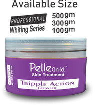 Pelle Glod Whitening Series Triple Action Cleanser 100 gm Lowest Price on Saloni.pk