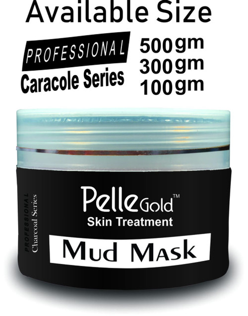 Pelle Gold Charcoal Series Mud Mask 100 gm Lowest Price on saloni.pk