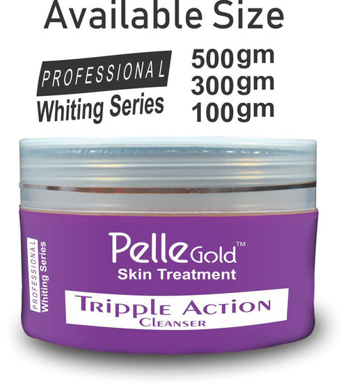 Pelle Glod Whitening Series Double Action Cleanser 300 gm Lowest Price on Saloni.pk