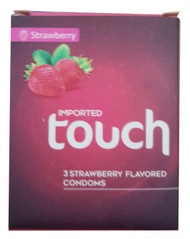 Touch Strawberry Flavoured Condoms - 3 Pieces Lowest Price on saloni.pk