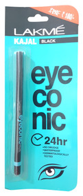 Lakeme EyeConic Kajal Black 24H get free gift on saloni.pk