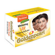 Golden Pearl Pea Extract Whitening Soap For Acne and Oily Skin 100 Grams