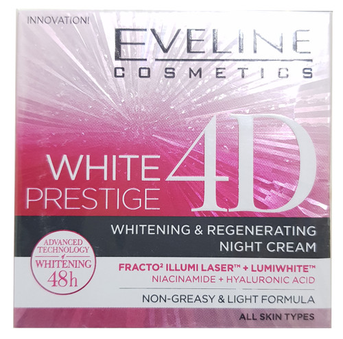 Eveline White Prestige 4D Intensive Whitening Night Cream 50 ML buy online in pakistan