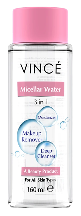 Vince Micellar Water 3 in 1 ( Moisturizer + Makeup Remover + Deep Cleanser ) 160ml