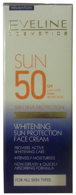 Eveline Whitening Sun Protection Face Cream SPF 50