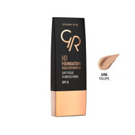Golden Rose HD Foundation High Definition - Taupe 106 Buy online in Pakistan on Saloni.pk