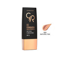 Golden Rose HD Foundation High Definition - Natural Tan 111 Buy online in Pakistan on Saloni.pk