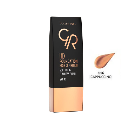 Golden Rose HD Foundation High Definition - Cappuccino 116 Buy online in Pakistan on Saloni.pk
