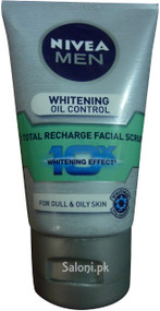 Nivea Men Whitening Oil Control Facial Scrub Front
