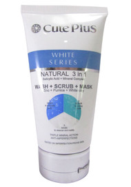 Cute Plus White Series Natural 3 in 1 Wash + Scrub + Mask 150 ML