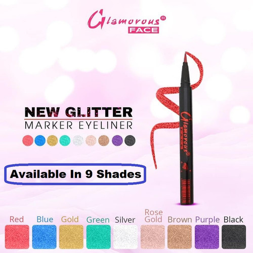 Glamorous Face Glitter Marker Eye Liner ( 9 Shades ) Buy online in Pakistan on Saloni.pk