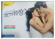 Simplex Long Love Delay Condoms 3 Piece -02 Buy online in Pakistan on Saloni.pk