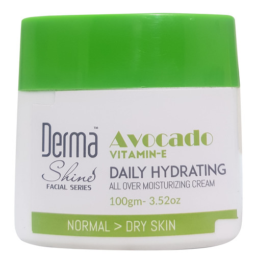 Derma Shine ( Avocado With Vitamin-E ) Daily Hydrating Moisturizing Cream 100g Buy online in Pakistan on Saloni.pk