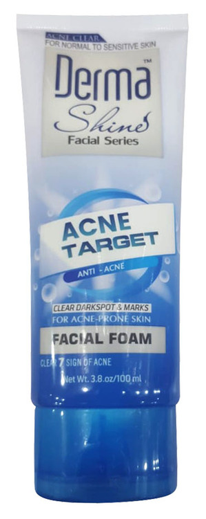 Derma Shine Acne Target Facial Foam 100ml lowest price in pakistan