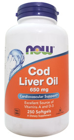 NOW FOOD Cod Liver Oil 650mg - 250 Veg Capsules Buy online in Pakistan on Saloni.pk