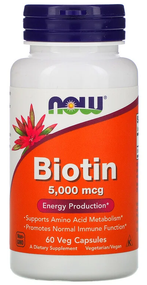 Now Foods Biotin 5000mg -60 Veg Capsules buy online in pakistan