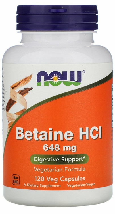 NOW FOOD Betaine HCL 648mg - 120 Veg Capsules Buy online in Pakistan on Saloni.pk