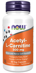 NOW FOOD Acetyl L-Carnitine 500mg- 50 Veg Capsules Buy online in Pakistan on Saloni.pk