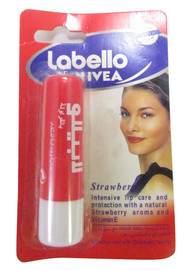 Nivea Labello Fruity Shine Strawberry Lip Balm Front