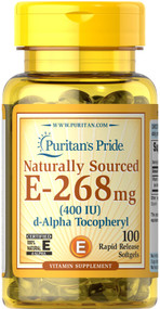 Puritan's Pride Vitamin E-400 IU Naturally Sourced - 100 Softgels Buy online in Pakistan on Saloni.pk