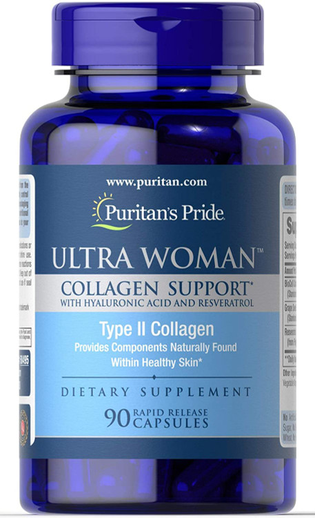 Puritan's Pride Ultra Woman Collagen Support with Hyaluronic Acid - 90 Rapid Release Capsules Buy online in Pakistan on Saloni.pk