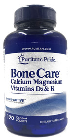 Puritan's Pride Bone Care- 120 Coated Caplets Buy online in Pakistan on Saloni.pk