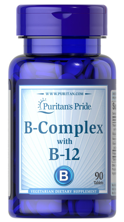 Puritan's Pride B-Complex With B-12 - 90 Tablets Buy online in Pakistan on Saloni.pk
