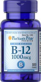 Puritan's Pride Vitamin B-12 1000 mcg Timed Release - 100 Caplets Buy online in Pakistan on Saloni.pk