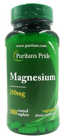 Puritans Pride Magnesium 250 Mg - 100 Caplets Buy online in Pakistan on Saloni.pk