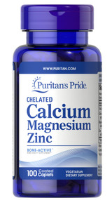 Puritan's Pride Chelated Calcium Magnesium Zinc - 100 Caplets Buy online in Pakistan on Saloni.pk