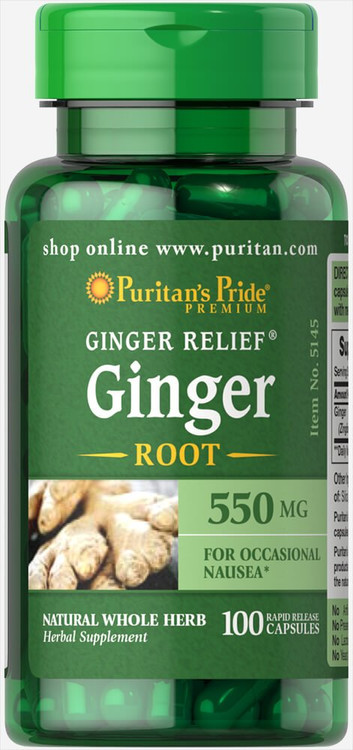Puritan's Pride Ginger Root 550 mg-100 Capsules. Lowest price on Livewell.pk Buy online in Pakistan on Saloni.pk