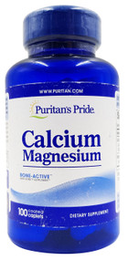 Puritan's Pride Chelated Calcium Magnesium -100 Caplets Buy online in Pakistan on Saloni.pk
