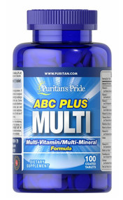 Puritan's Pride ABC Plus Multi-Vitamin / Mineral - 100 Caplets Buy online in Pakistan on Saloni.pk