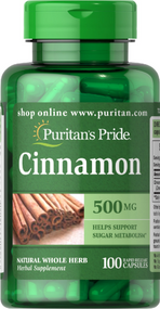 Puritan's Pride Cinnamon 500mg -100 Capsules Buy online in Pakistan on Saloni.pk