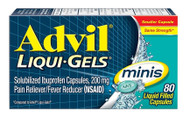 Advil Liqui-Gels Minis Pain Reliever  Fever Reducer 200mg - 80 Capsules Buy online in Pakistan on Saloni.pk