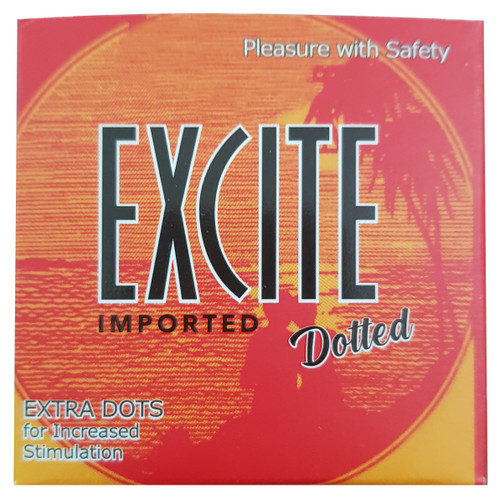 Excite Imported Dotted Extra Dots For Increased Stimulated Condoms Buy online in Pakistan on Saloni.pk