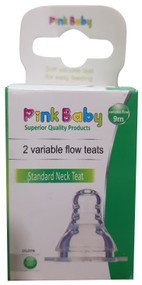 Pink Baby 2 Variable Flow Teats - Variable flows 9m ( A-2401) Buy online in Pakistan on Saloni.pk