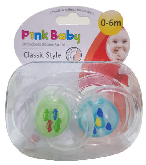 Pink Baby Orthodontic Silicon Pacifier Classic Style,  0-6m (A-214) Buy online in Pakistan on Saloni.pk