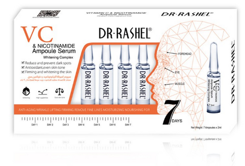 Dr.Rashel Vitamin C And Nicotinamide Ampoule Serum Whitening Complex- 2ml x 7 Buy online in Pakistan on Saloni.pk