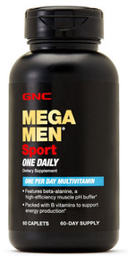 GNC Mega Men Sport 60 Caplets One Daily Multivitamin original product