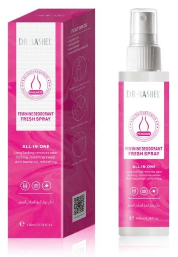 Dr.Rashel Feminine Deodorant Fresh Spray - 100ml Buy online in Pakistan on Saloni.pk