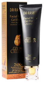 Dr.Rashel 24K Gold Atoms Collagen Whitening Facial Wash Gel Foam Cleanser- 80ml Buy online in Pakistan on Saloni.pk