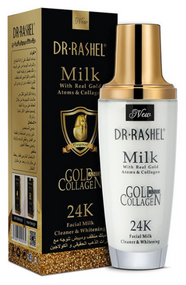 Dr.Rashel Milk With Real Gold Atoms & Collagen 24K Facial Milk Cleaner & Whitener- 100ml Buy online in Pakistan on Saloni.pk